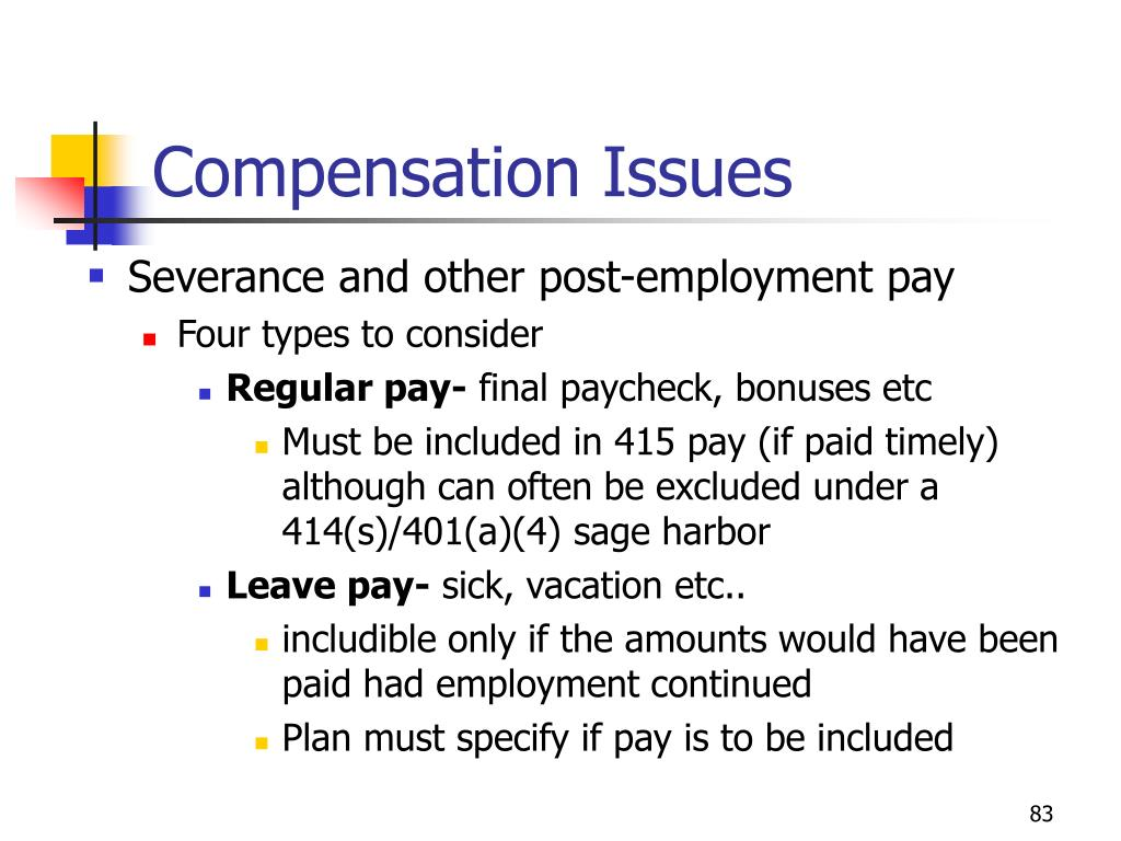 Compensation Issues
