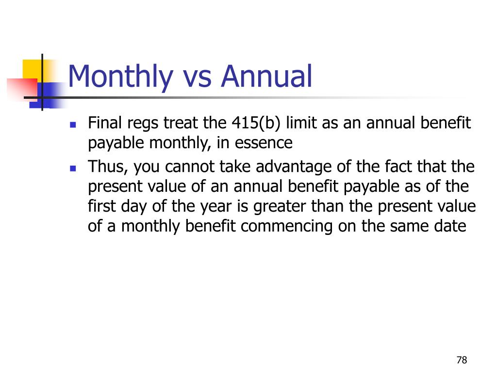 Monthly vs Annual