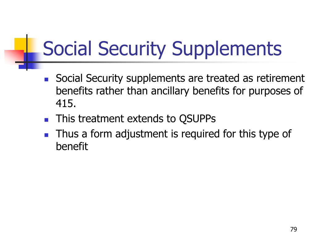Social Security Supplements