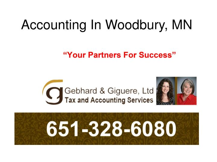 Accounting in woodbury mn