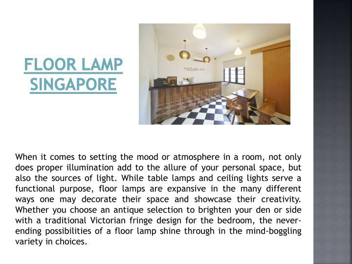 Floor Lamp Singapore