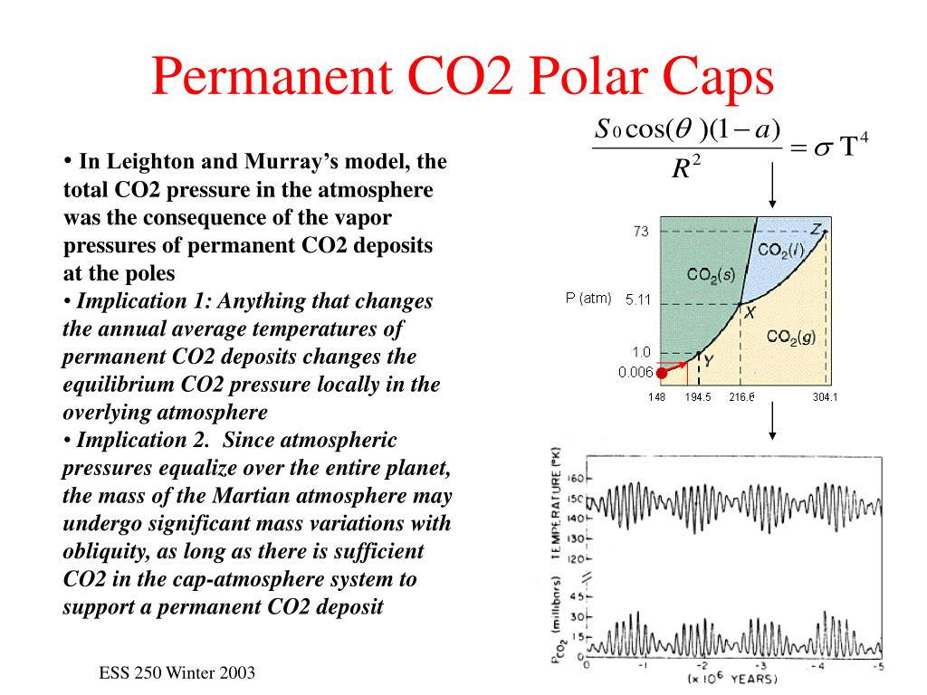 Permanent CO2 Polar Caps