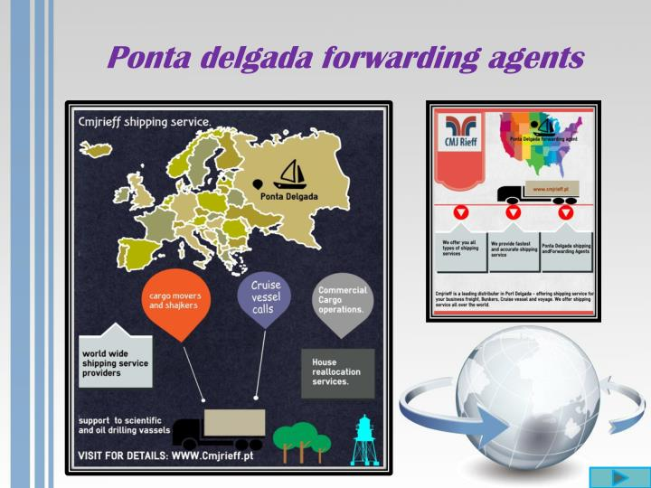 Ponta delgada forwarding agents