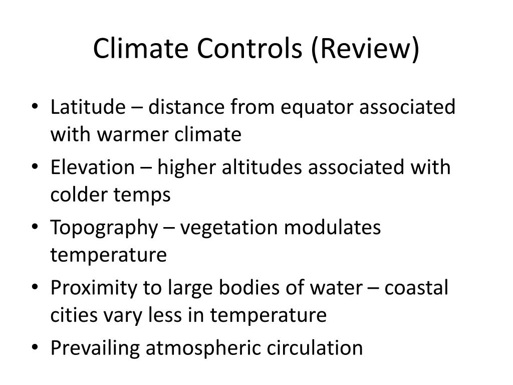 Climate Controls (Review)