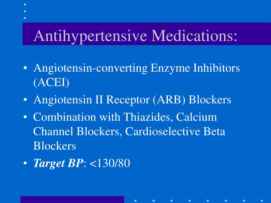 Antihypertensive Medications: