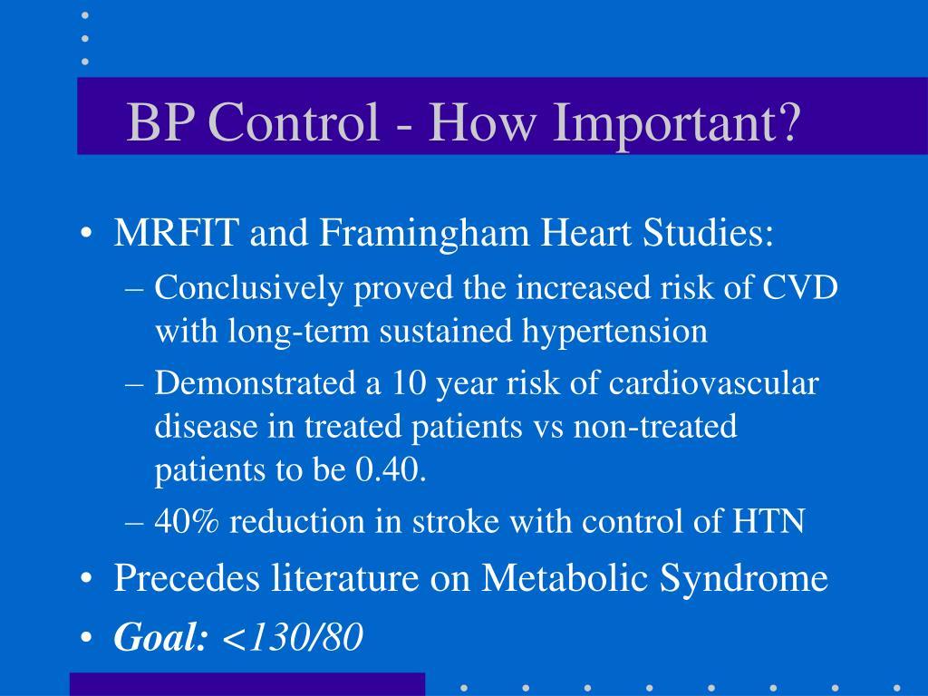 BP Control - How Important?