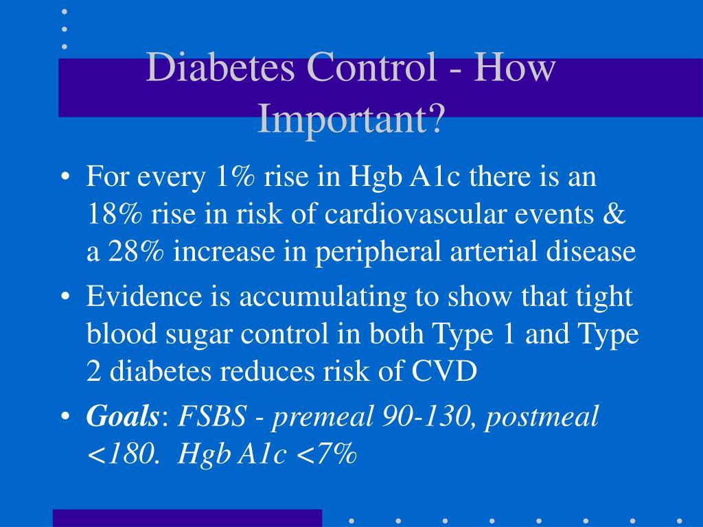 Diabetes Control - How Important?