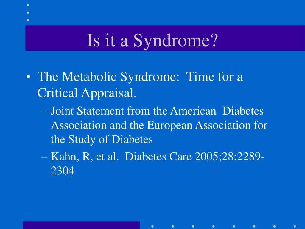 Is it a Syndrome?