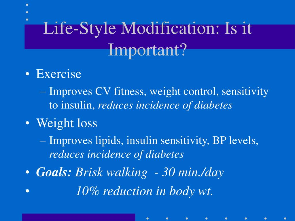 Life-Style Modification: Is it Important?