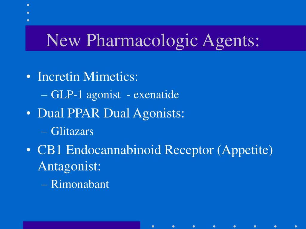 New Pharmacologic Agents: