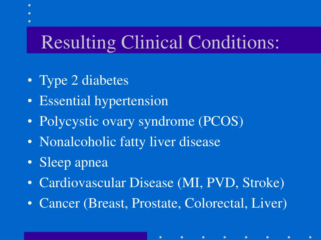 Resulting Clinical Conditions: