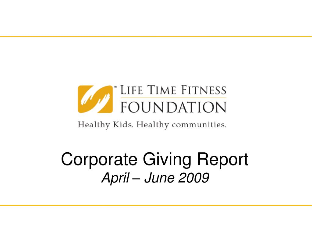 Corporate Giving Report