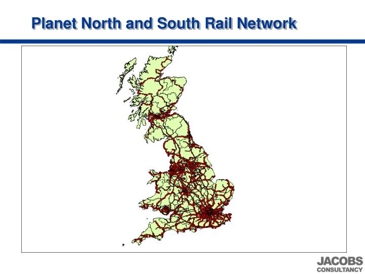 Planet North and South Rail Network