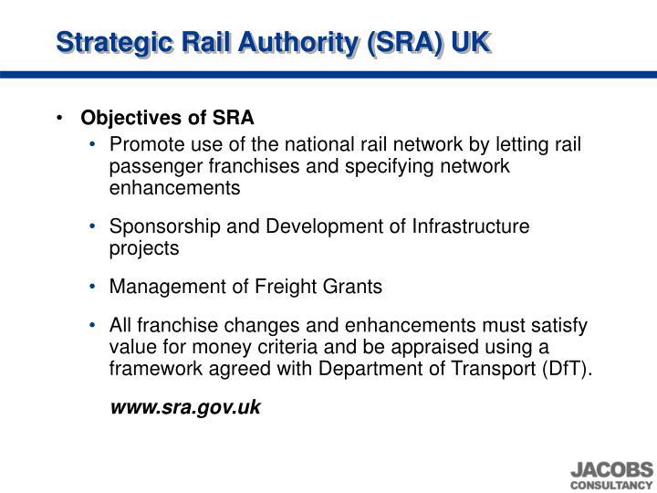 Strategic Rail Authority (SRA) UK