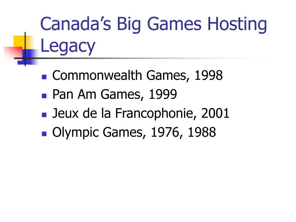 Canada's Big Games Hosting Legacy