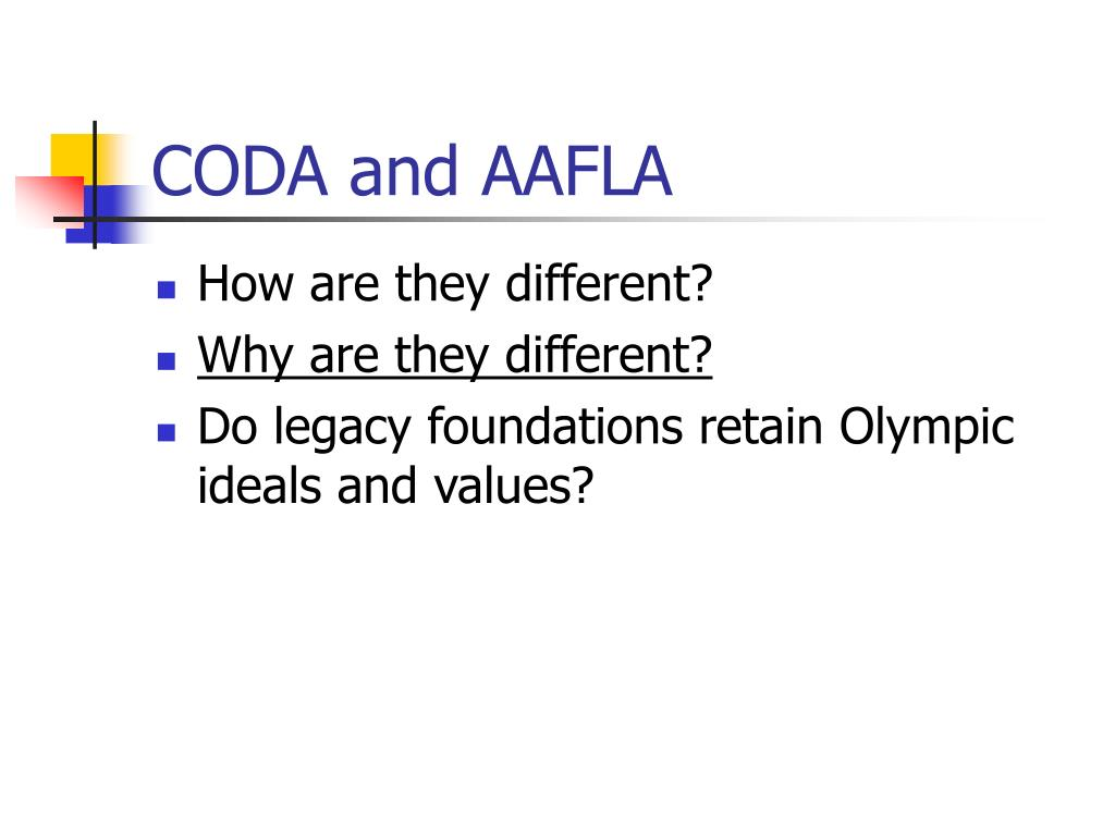 CODA and AAFLA