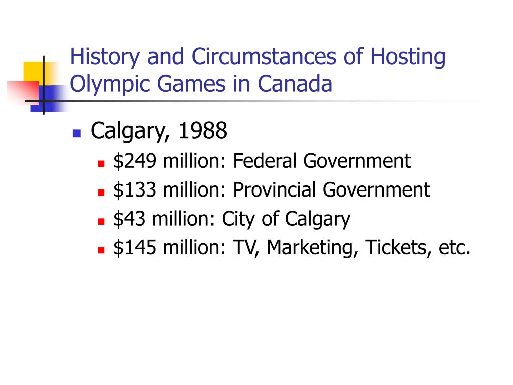 History and Circumstances of Hosting Olympic Games in Canada
