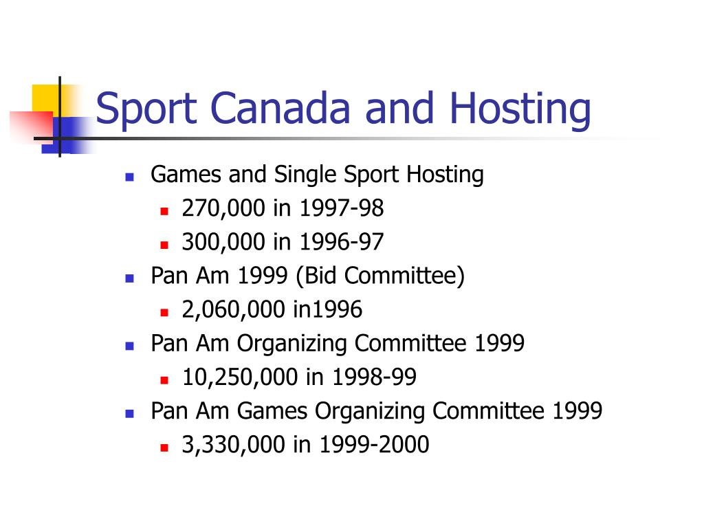 Sport Canada and Hosting