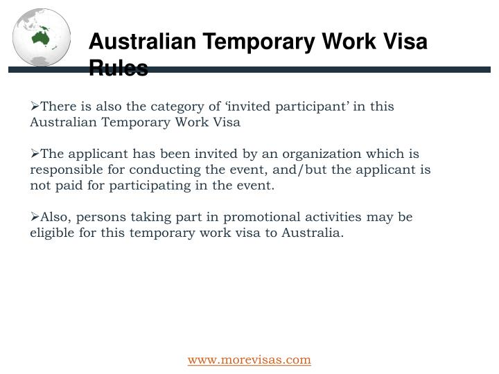 Australian Temporary Work Visa Rules