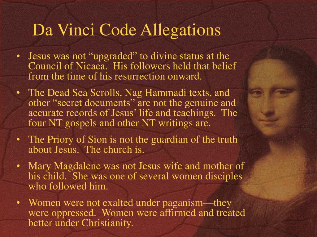 Da Vinci Code Allegations