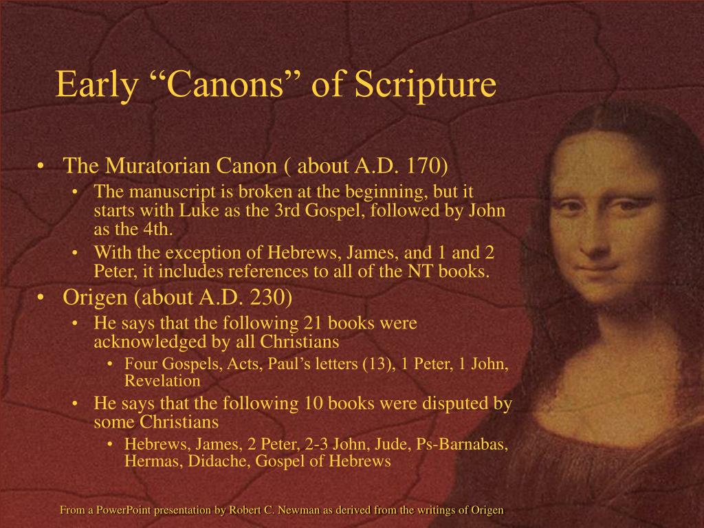 """Early """"Canons"""" of Scripture"""
