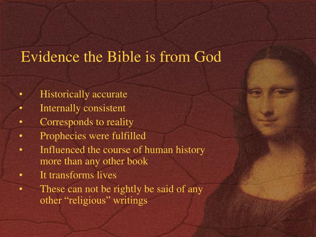 Evidence the Bible is from God