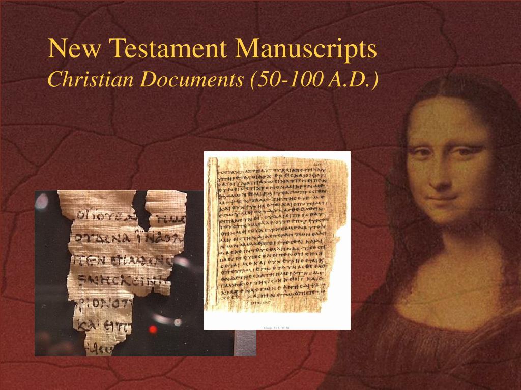 New Testament Manuscripts