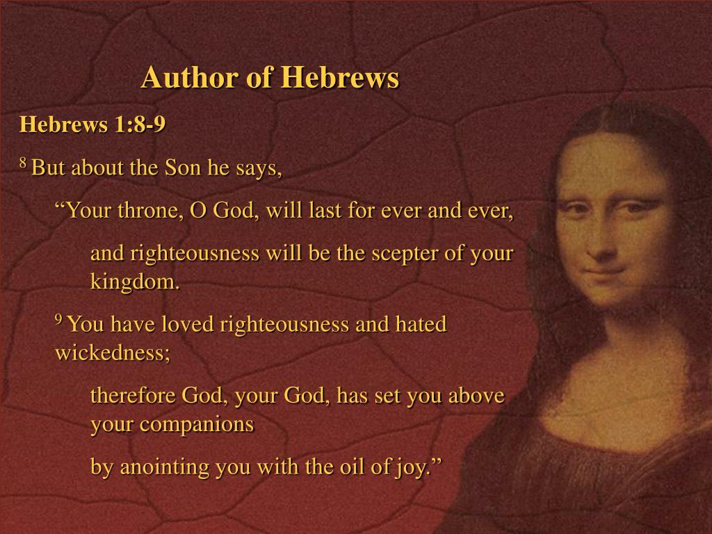 Author of Hebrews