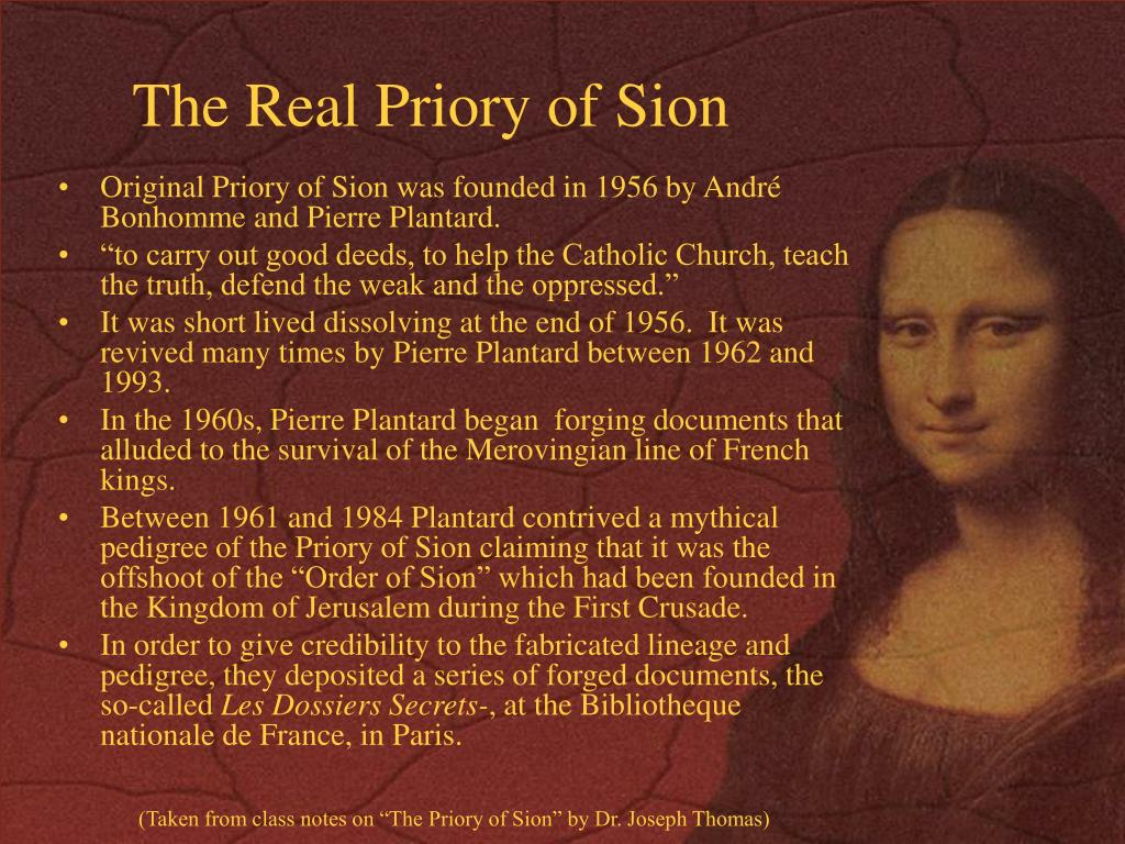 The Real Priory of Sion