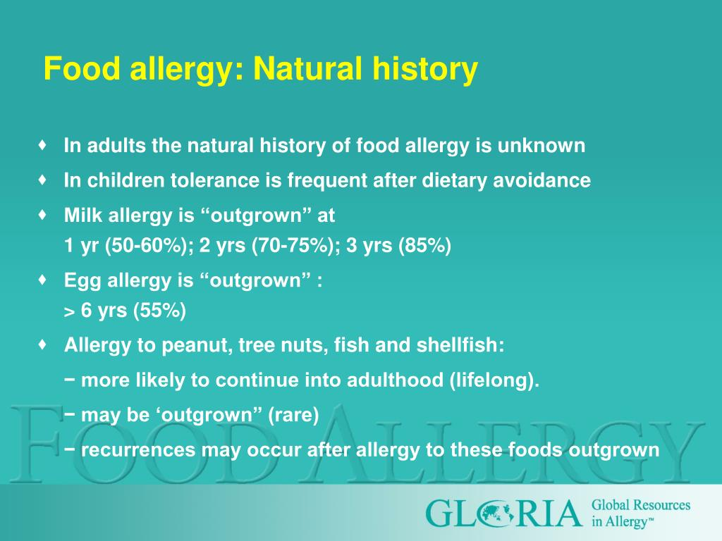 Food allergy: Natural history