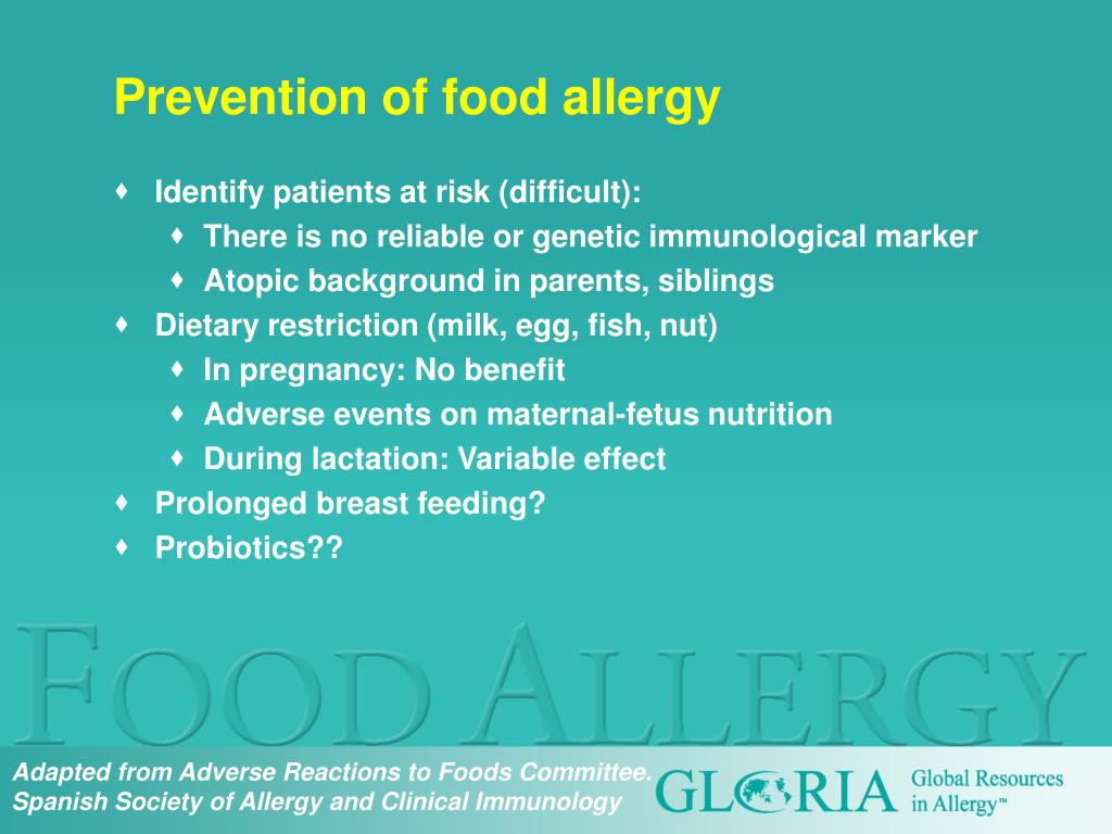 Prevention of food allergy