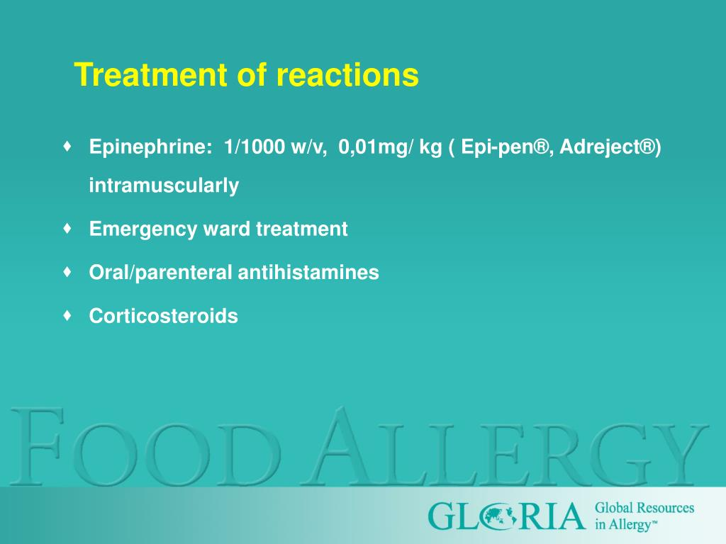 Treatment of reactions
