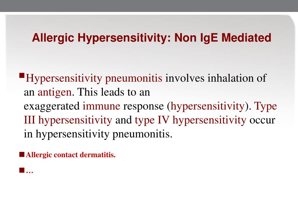 Allergic Hypersensitivity: Non