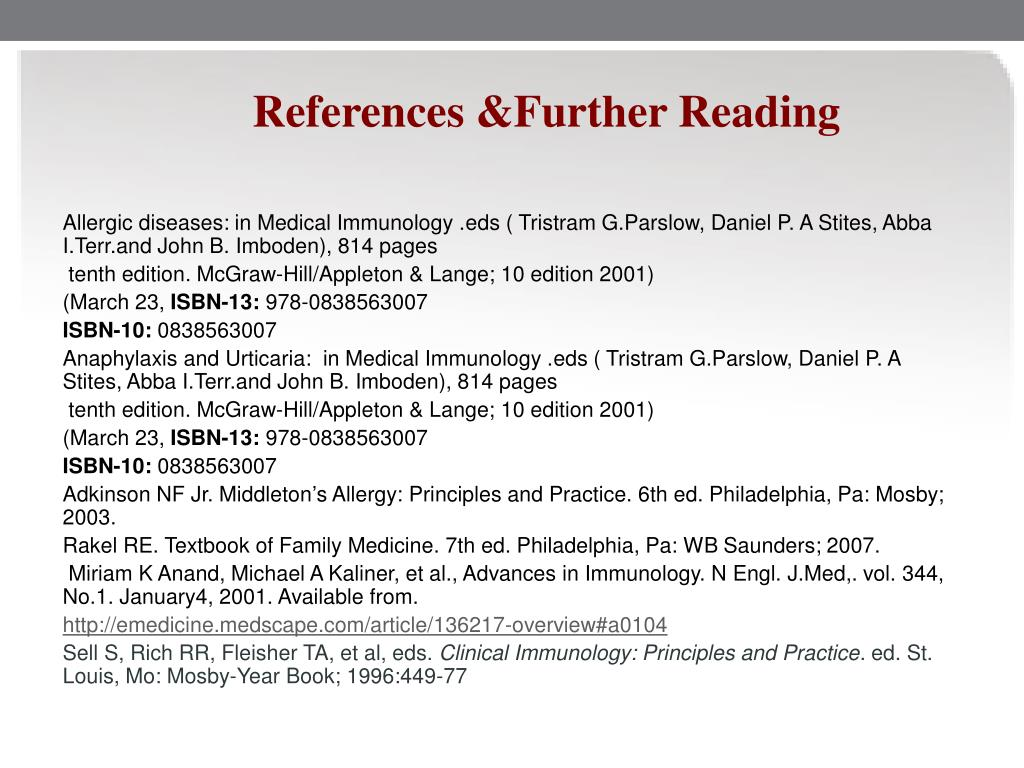 References &Further Reading