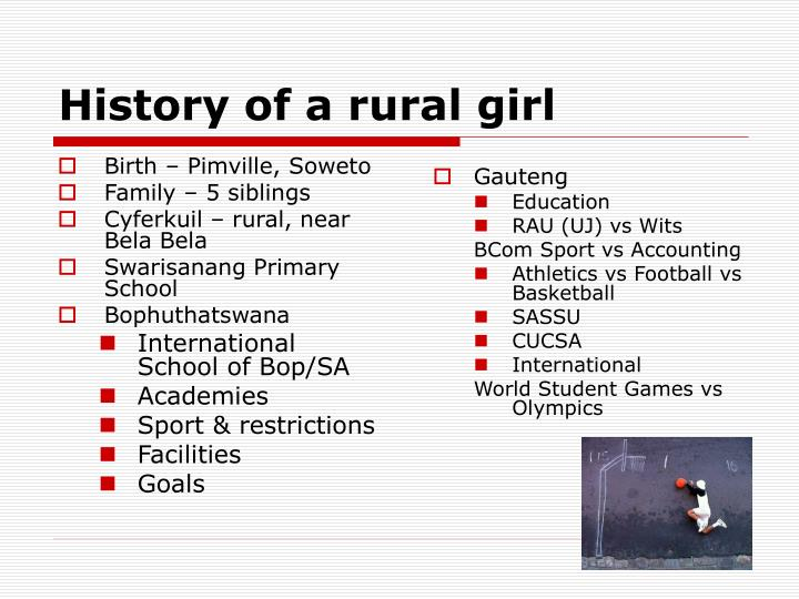 History of a rural girl