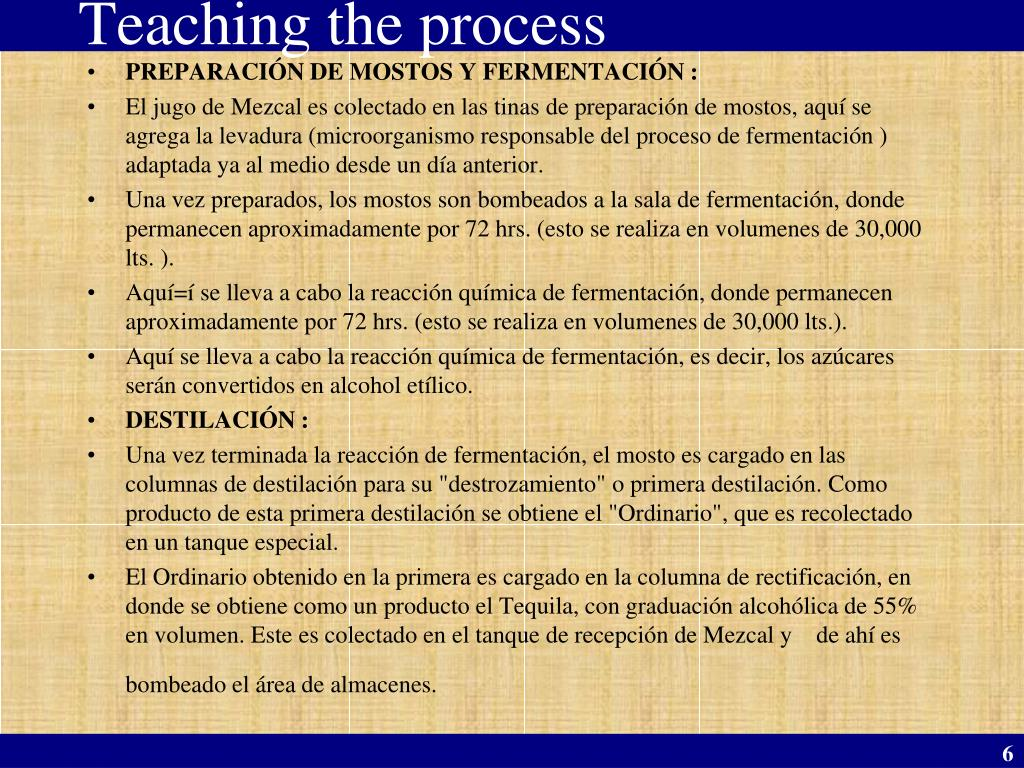 Teaching the process
