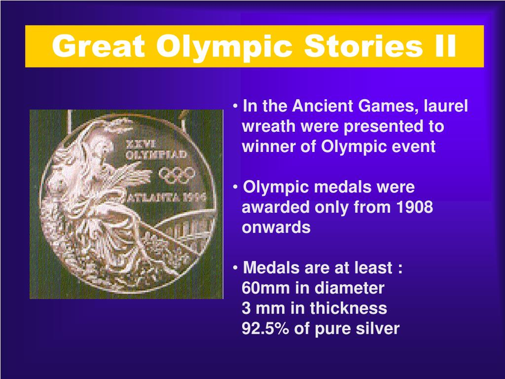 Great Olympic Stories II