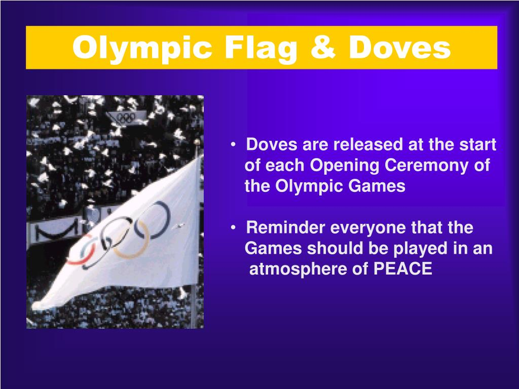 Olympic Flag & Doves