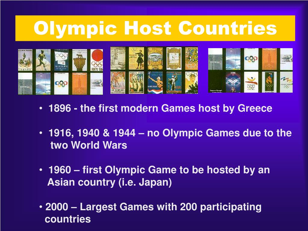 Olympic Host Countries