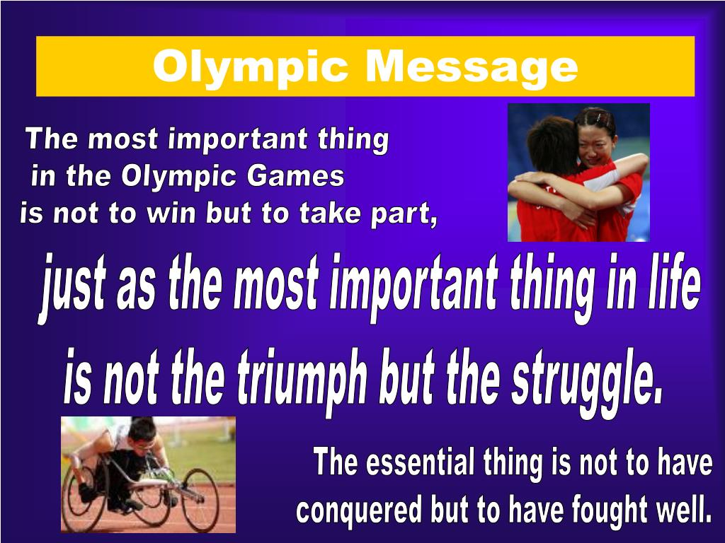 Olympic Message