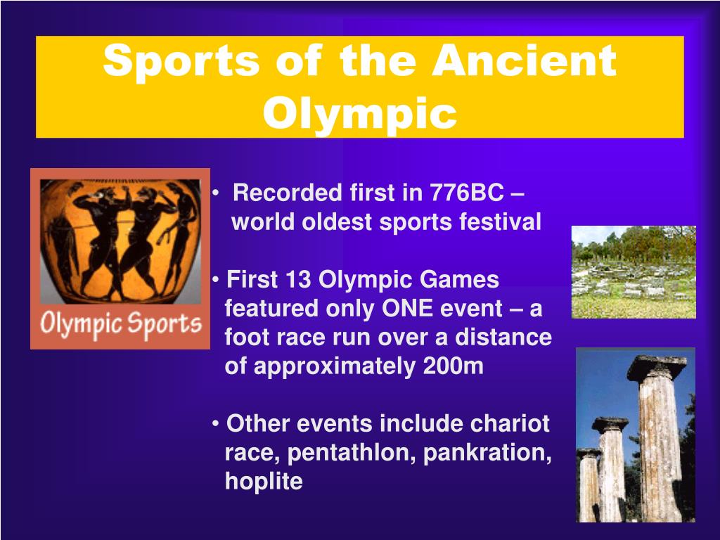Sports of the Ancient