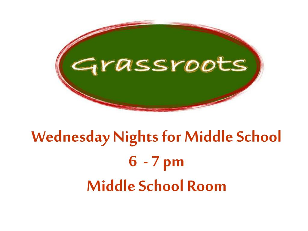 Wednesday Nights for Middle School