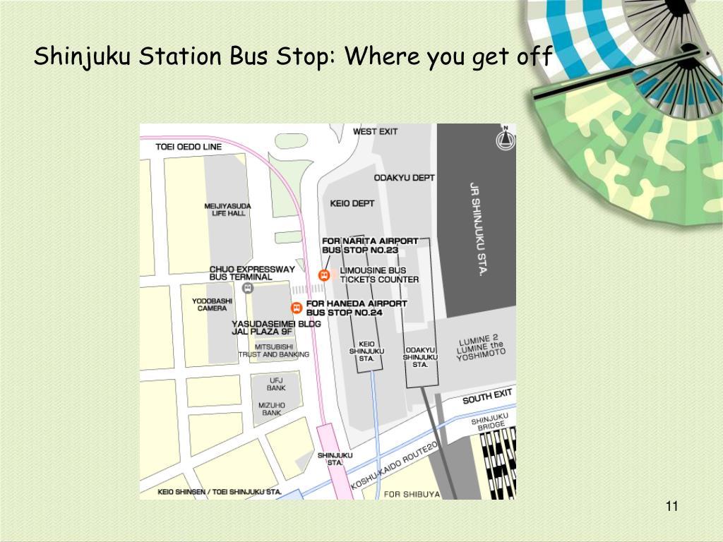 Shinjuku Station Bus Stop: Where you get off