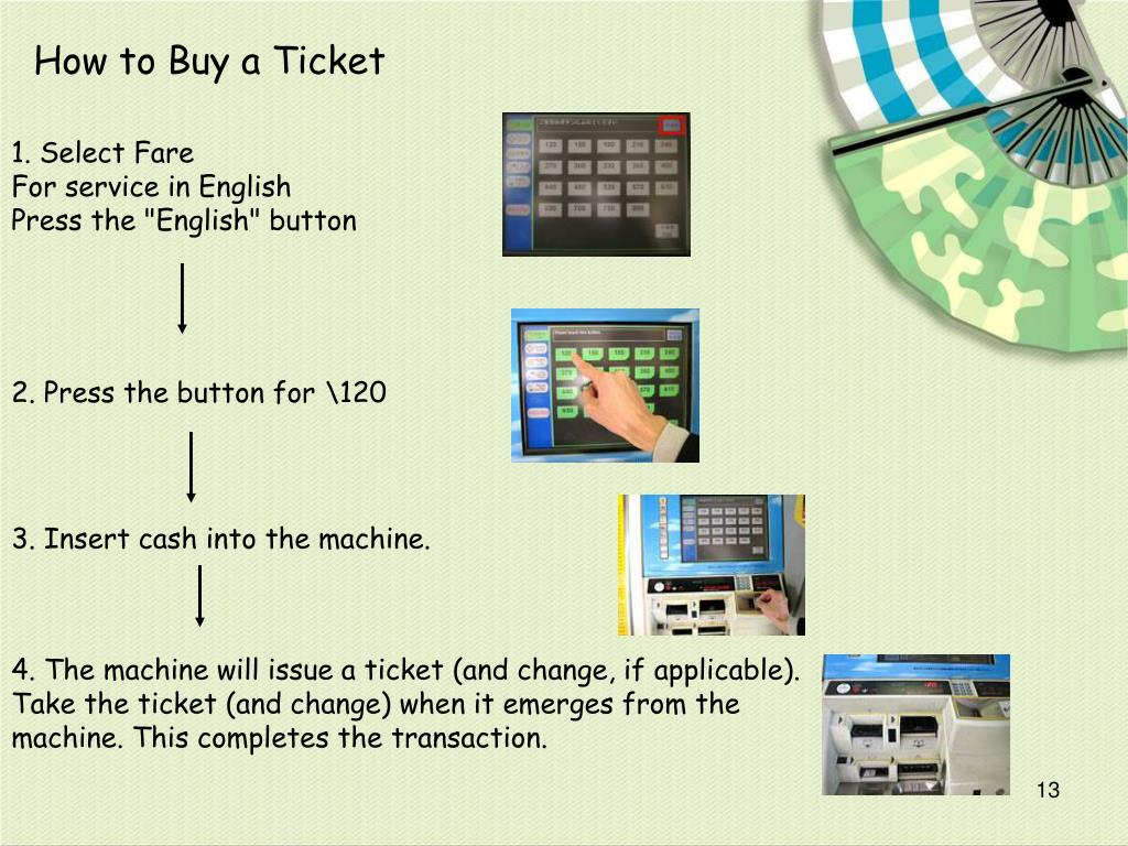 How to Buy a Ticket