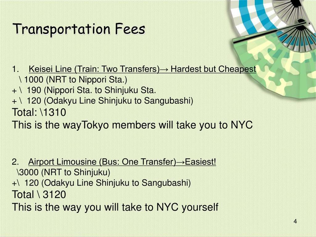 Transportation Fees