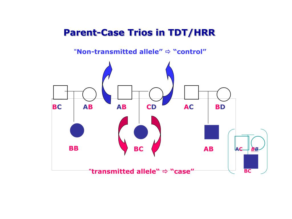 Parent-Case Trios in TDT/HRR