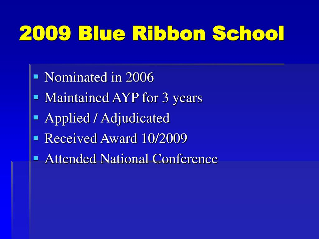 2009 Blue Ribbon School