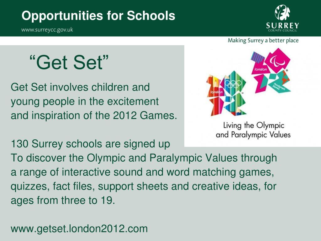 Opportunities for Schools