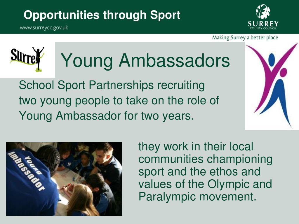 Opportunities through Sport