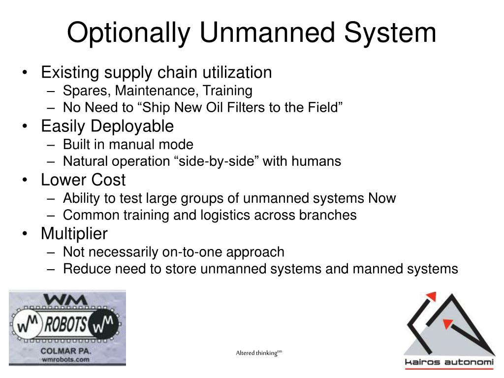 Optionally Unmanned System